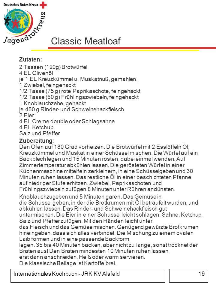 Classic Meatloaf Zutaten:
