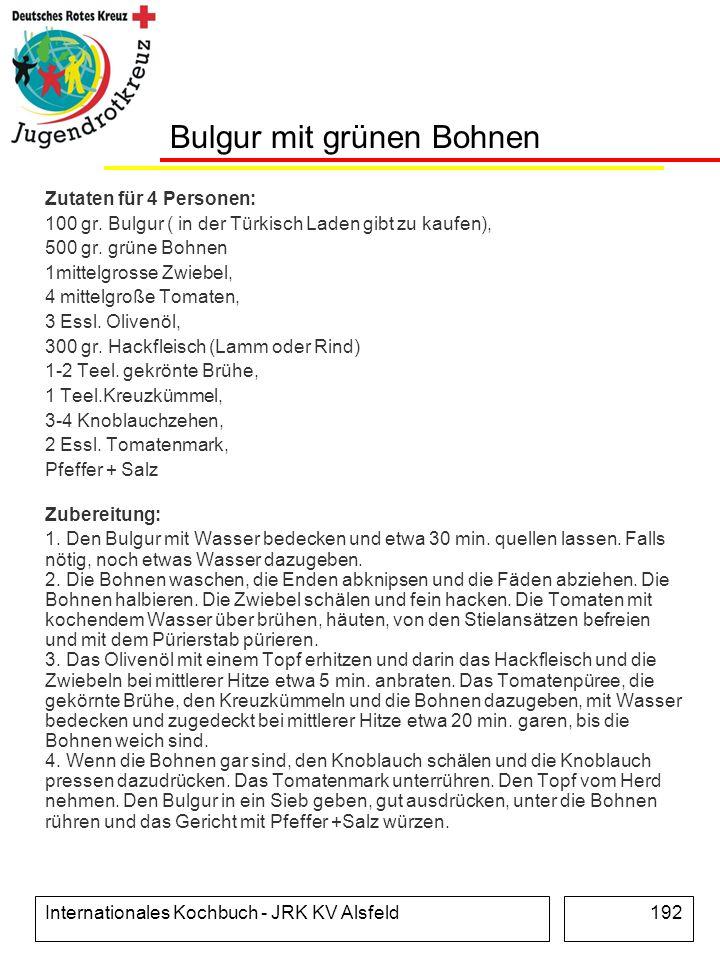 Bulgur mit grünen Bohnen