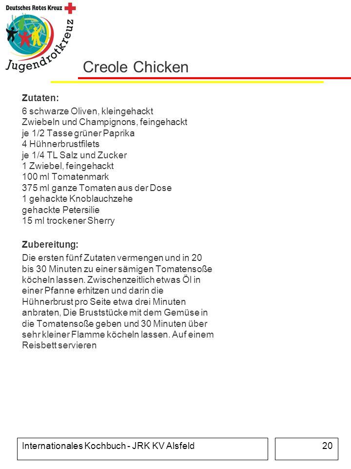 Creole Chicken Zutaten: