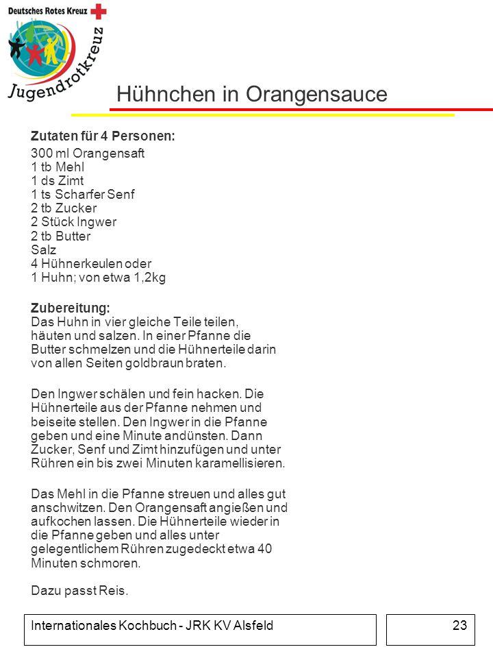 Hühnchen in Orangensauce