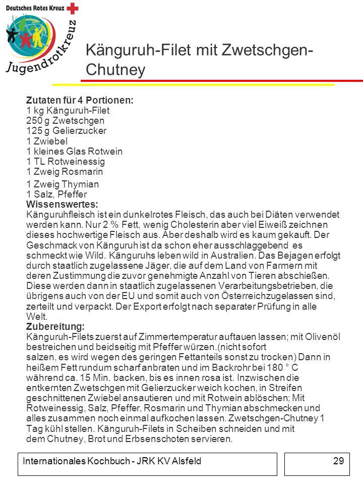 Känguruh-Filet mit Zwetschgen-Chutney