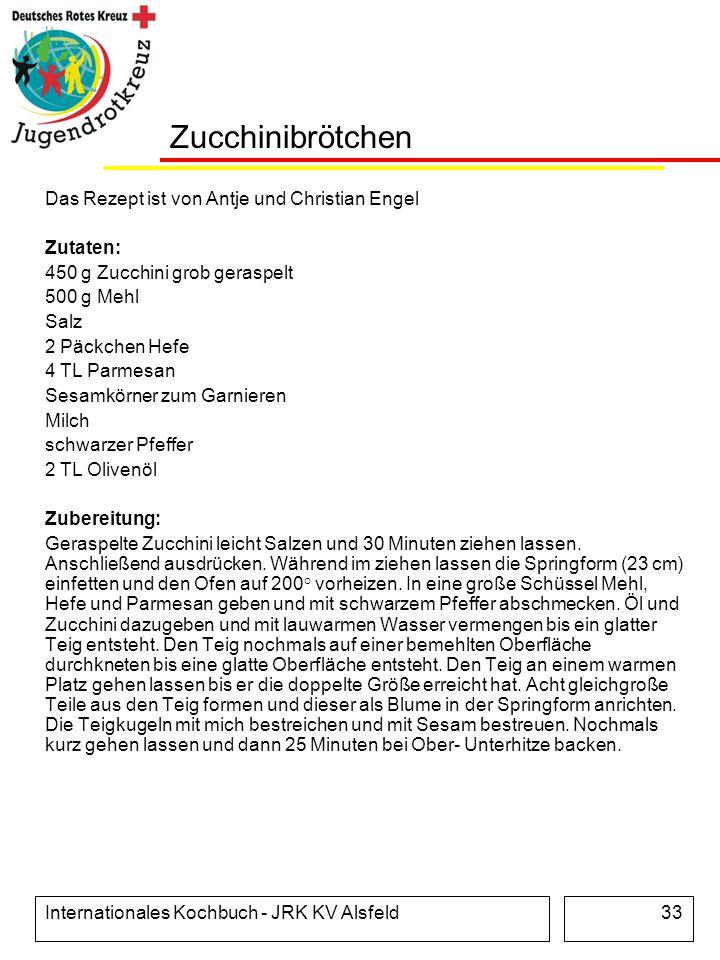 Zucchinibrötchen Das Rezept ist von Antje und Christian Engel Zutaten: