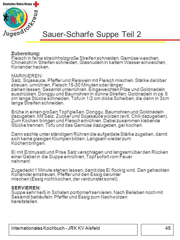 Sauer-Scharfe Suppe Teil 2