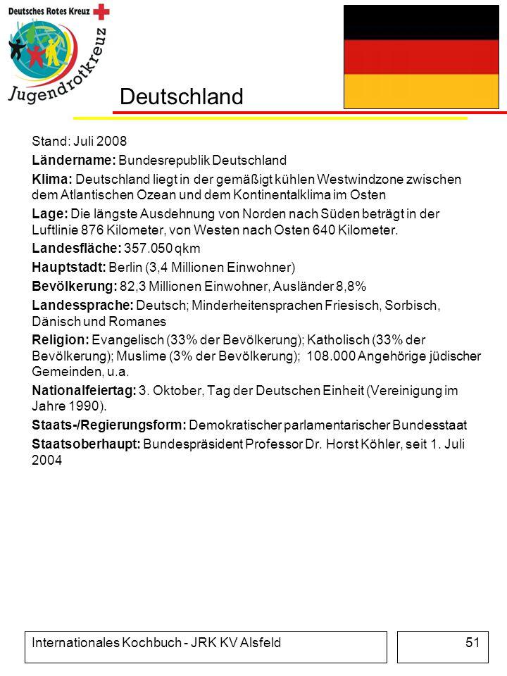 Deutschland Stand: Juli 2008 Ländername: Bundesrepublik Deutschland