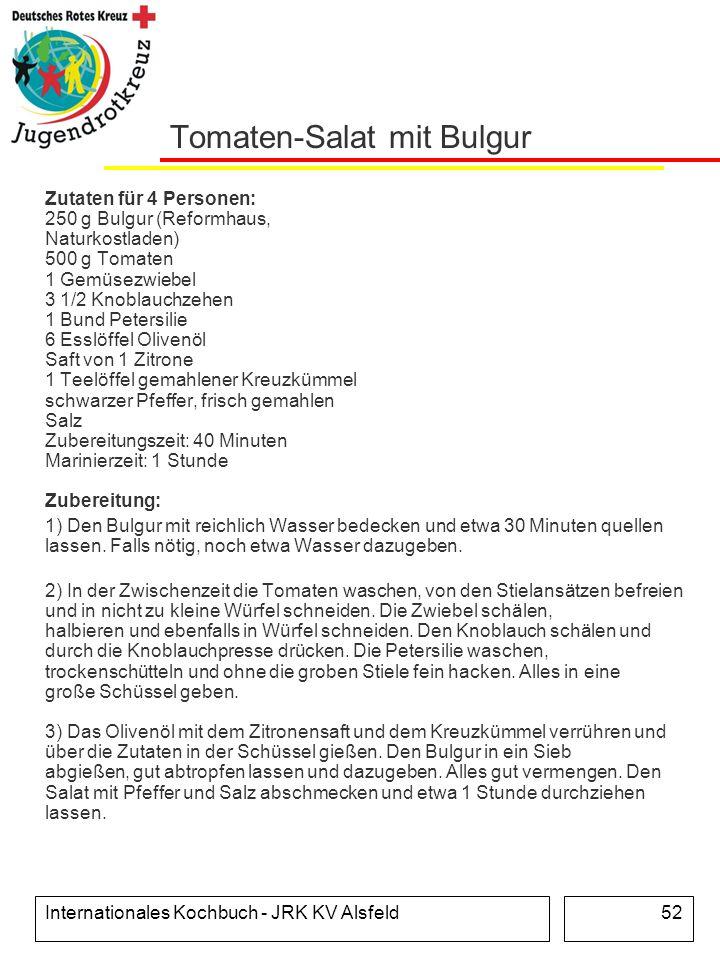 Tomaten-Salat mit Bulgur