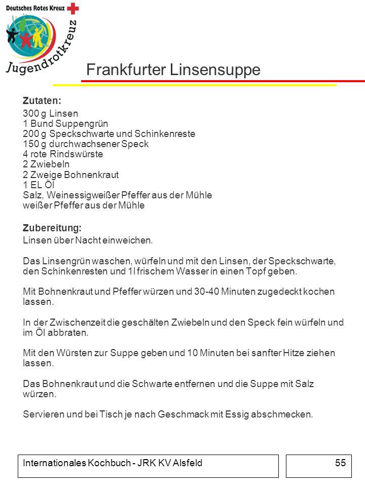 Frankfurter Linsensuppe