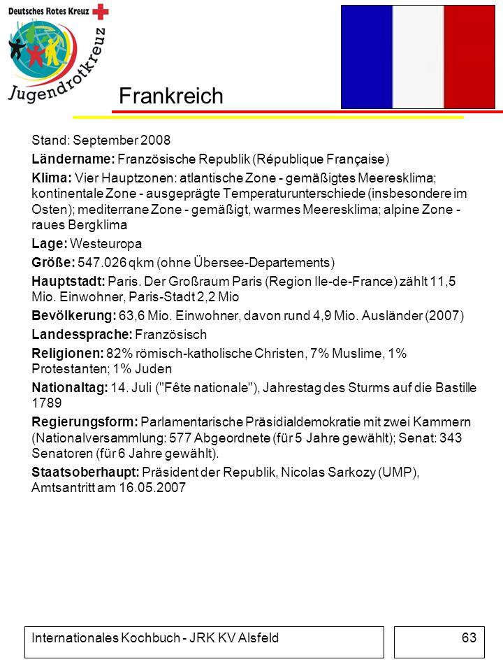 Frankreich Stand: September 2008