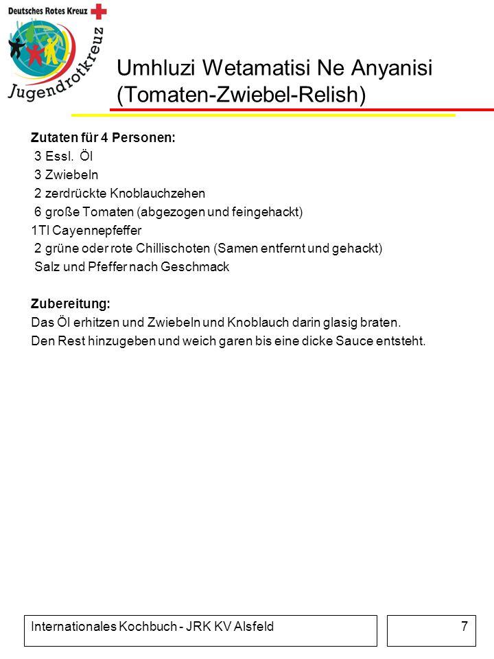 Umhluzi Wetamatisi Ne Anyanisi (Tomaten-Zwiebel-Relish)