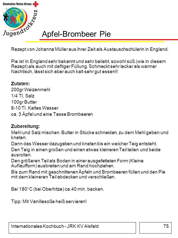 Apfel-Brombeer Pie Rezept von Johanna Müller aus ihrer Zeit als Austauschschülerin in England.