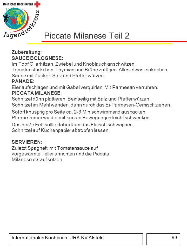 Piccate Milanese Teil 2