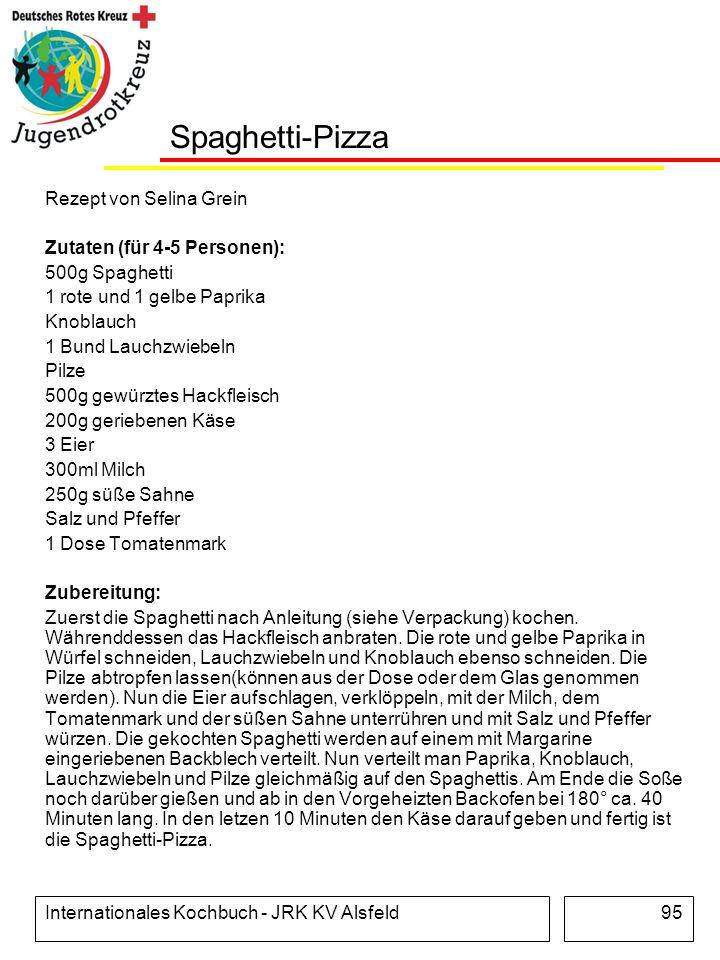 Spaghetti-Pizza Rezept von Selina Grein Zutaten (für 4-5 Personen):
