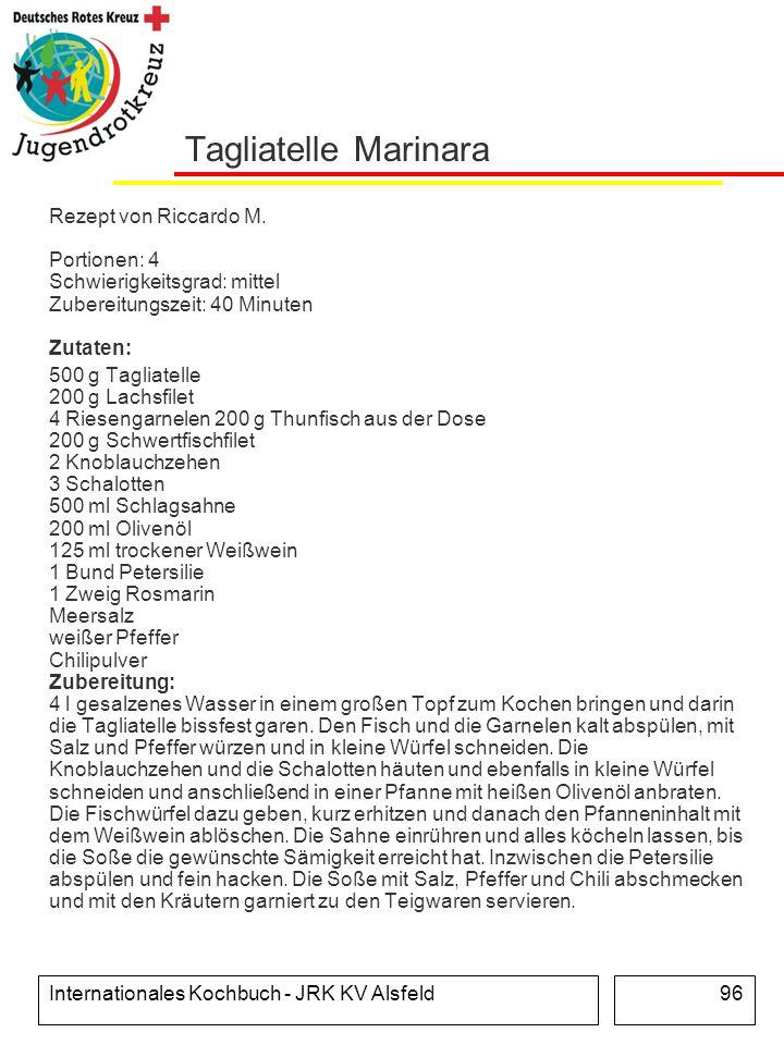 Tagliatelle Marinara Rezept von Riccardo M. Portionen: 4 Schwierigkeitsgrad: mittel Zubereitungszeit: 40 Minuten Zutaten:
