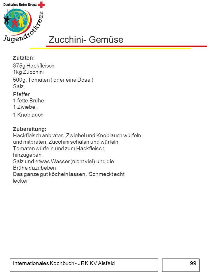 Zucchini- Gemüse Zutaten: 375g Hackfleisch 1kg Zucchini