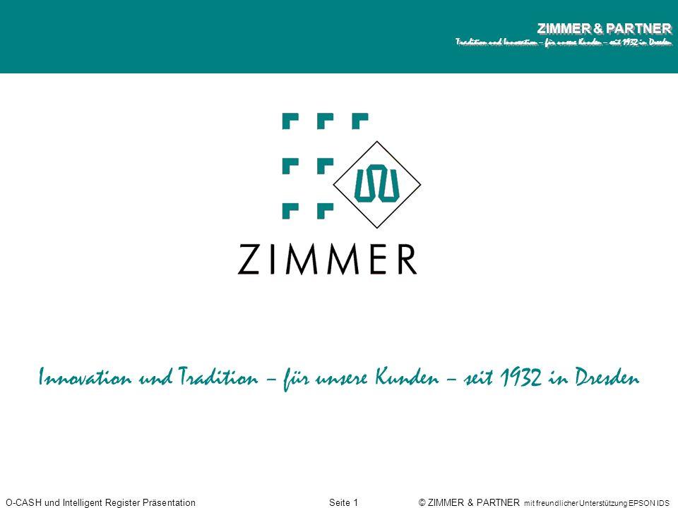 Innovation und Tradition – für unsere Kunden – seit 1932 in Dresden