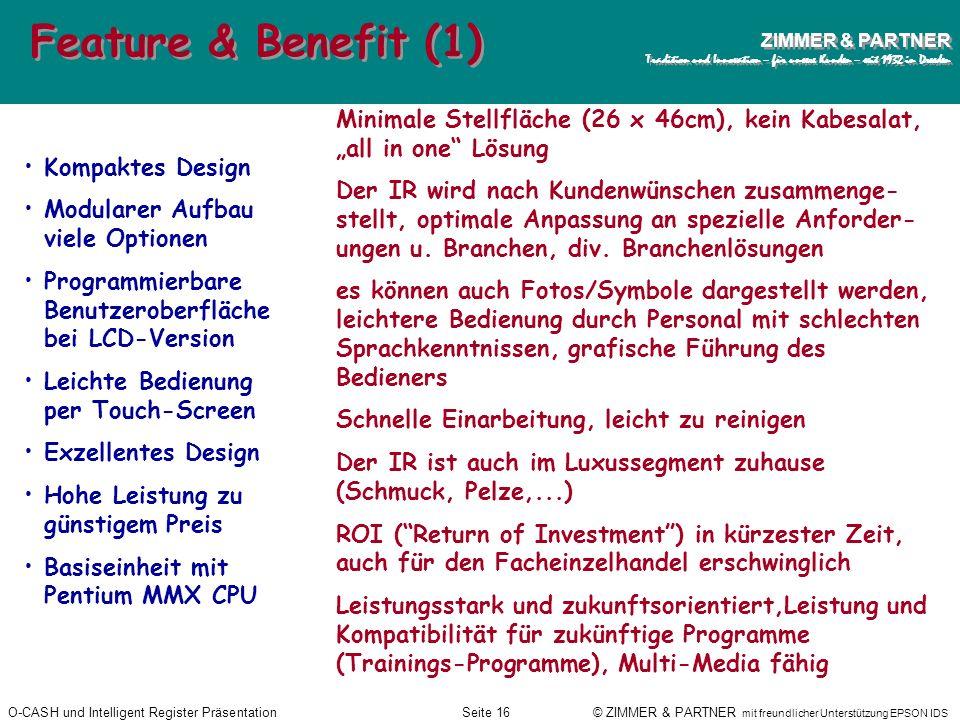 """Feature & Benefit (1)Minimale Stellfläche (26 x 46cm), kein Kabesalat, """"all in one Lösung."""