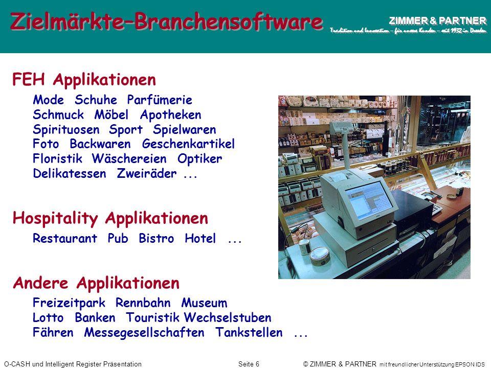 Zielmärkte–Branchensoftware