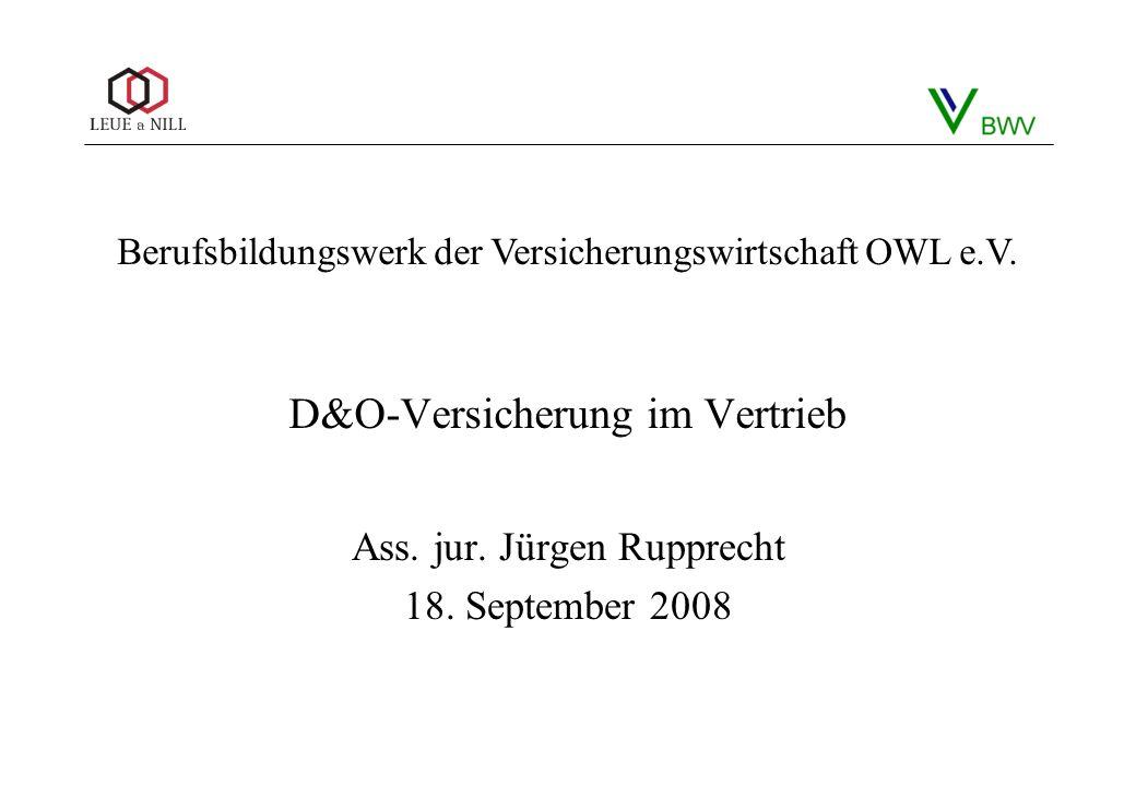 D&O-Versicherung im Vertrieb