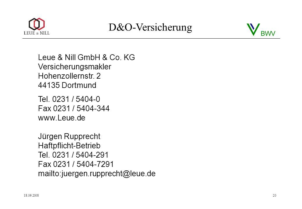 Leue & Nill GmbH & Co. KG Versicherungsmakler Hohenzollernstr