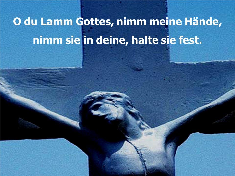 O du Lamm Gottes, nimm meine Hände, nimm sie in deine, halte sie fest.