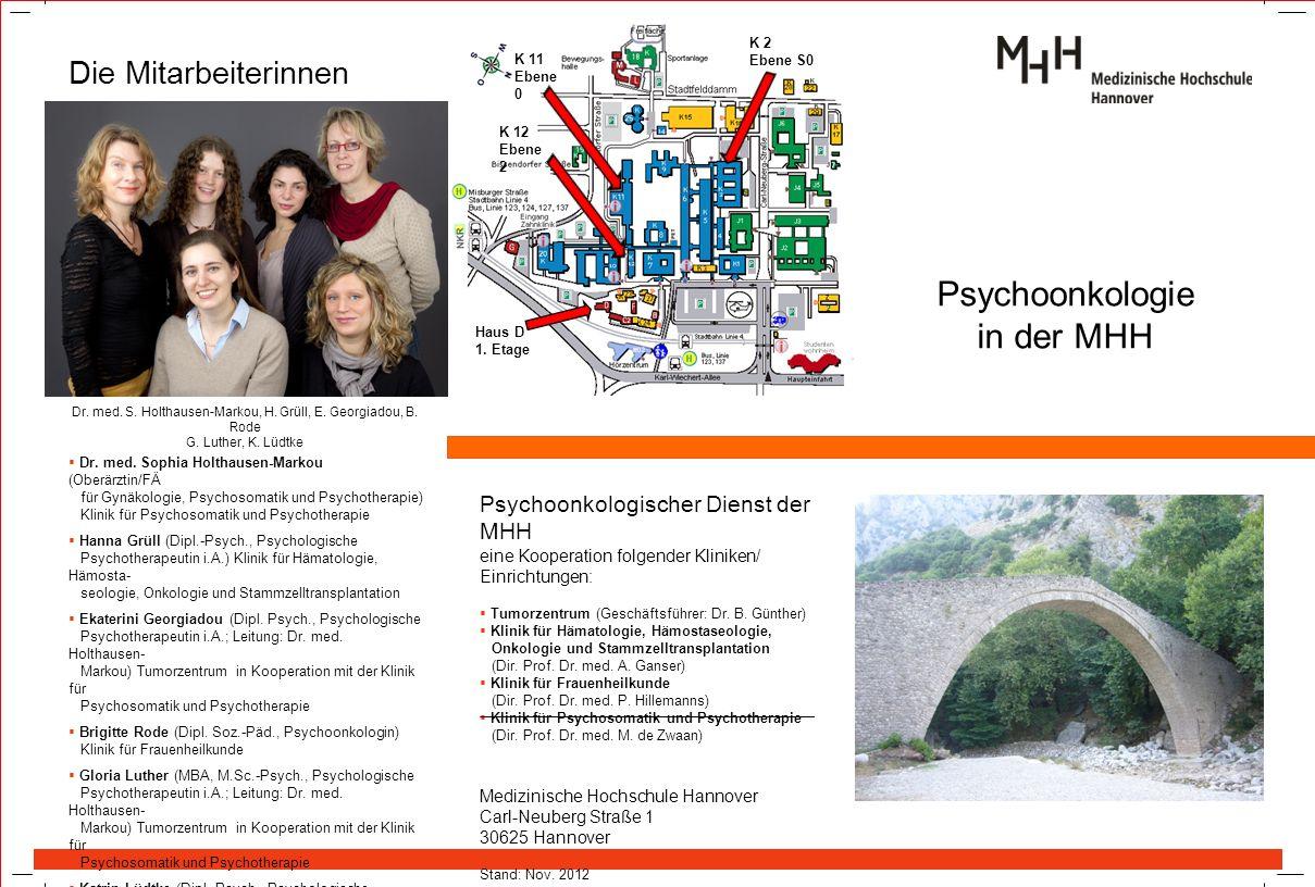 Psychoonkologie in der MHH Die Mitarbeiterinnen