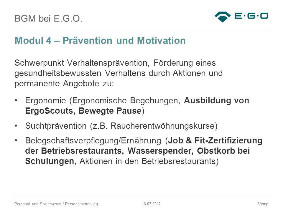 Modul 4 – Prävention und Motivation