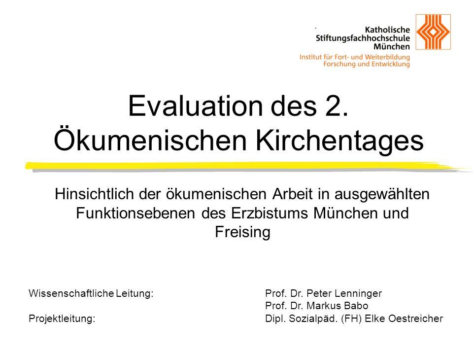 Evaluation des 2. Ökumenischen Kirchentages