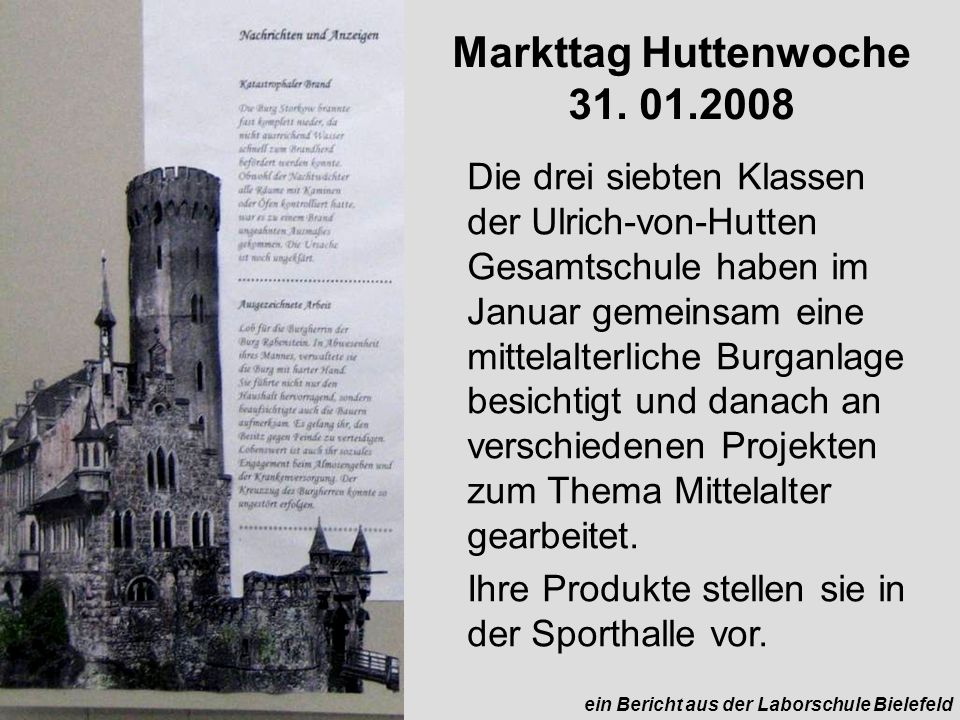 Markttag Huttenwoche 31. 01.2008