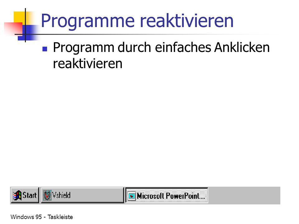 Programme reaktivieren