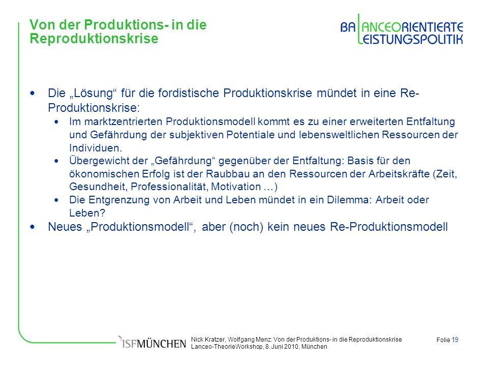 Von der Produktions- in die Reproduktionskrise
