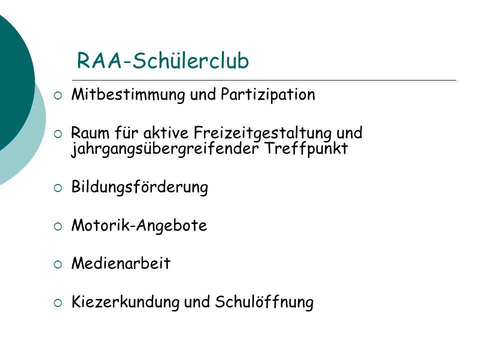 RAA-Schülerclub Mitbestimmung und Partizipation