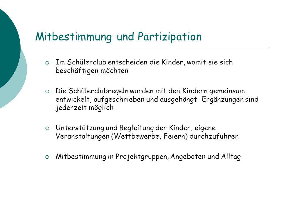 Mitbestimmung und Partizipation