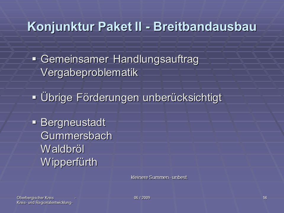 Konjunktur Paket II - Breitbandausbau