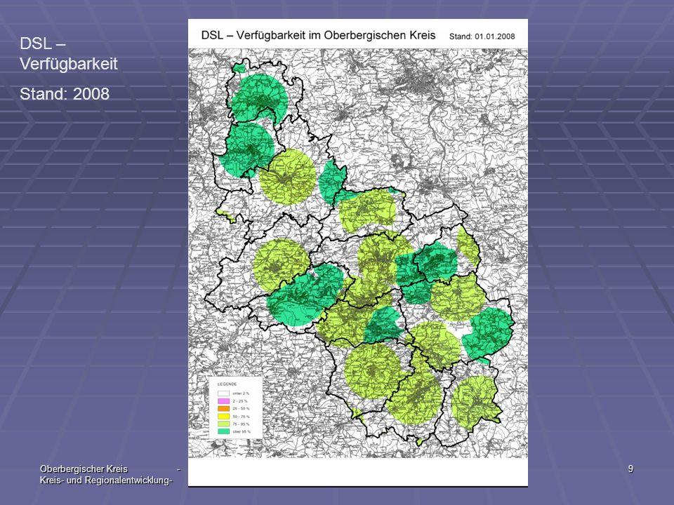 DSL – Verfügbarkeit Stand: 2008