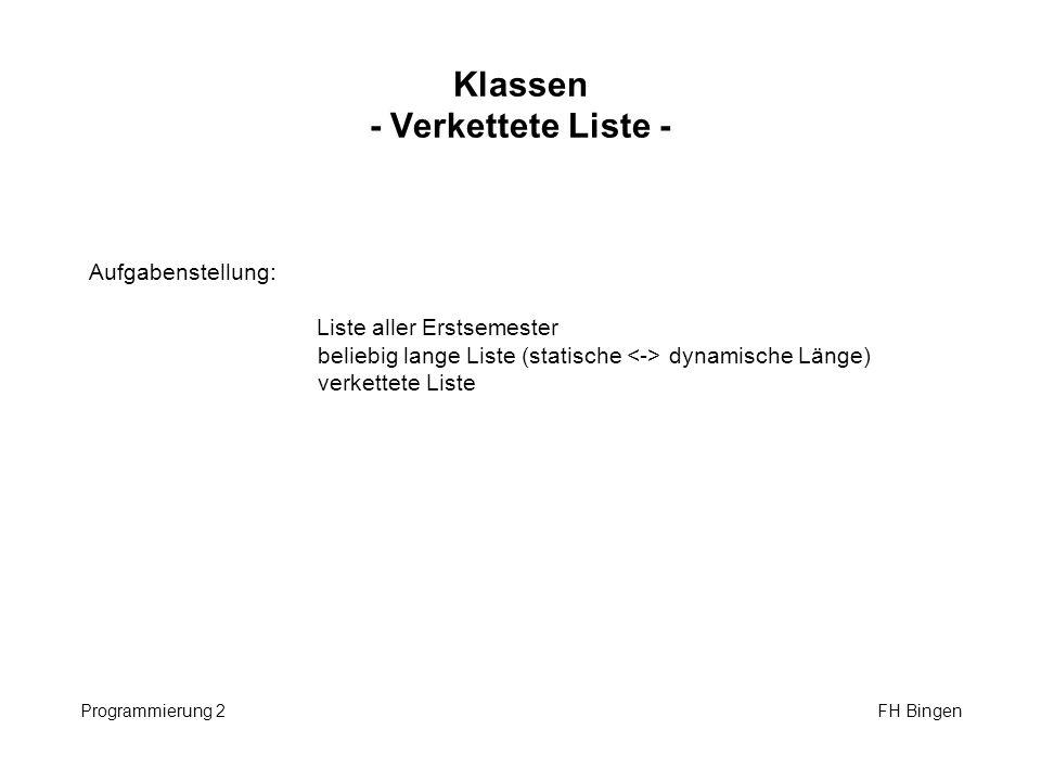 Klassen - Verkettete Liste -