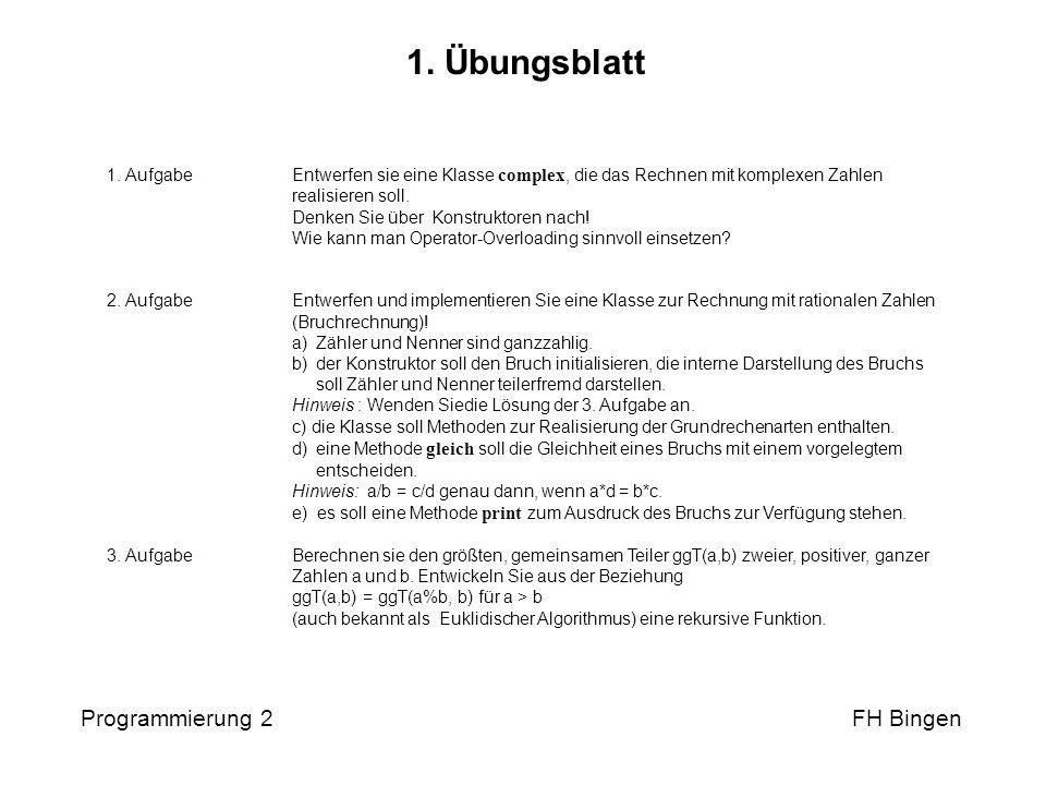 Programmierung 2 FH Bingen