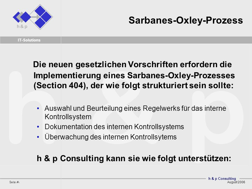 Sarbanes-Oxley-Prozess