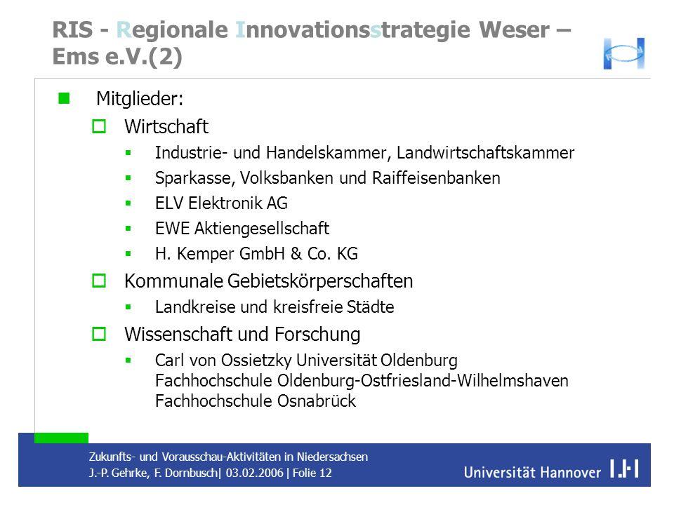 RIS - Regionale Innovationsstrategie Weser – Ems e.V.(2)