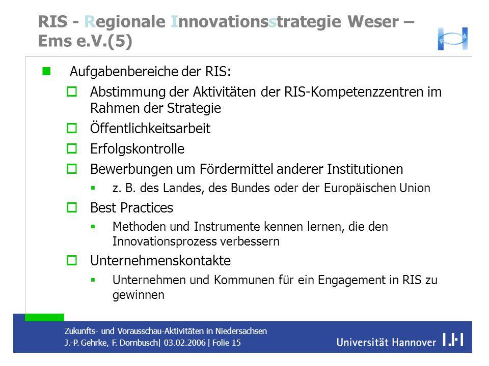 RIS - Regionale Innovationsstrategie Weser – Ems e.V.(5)