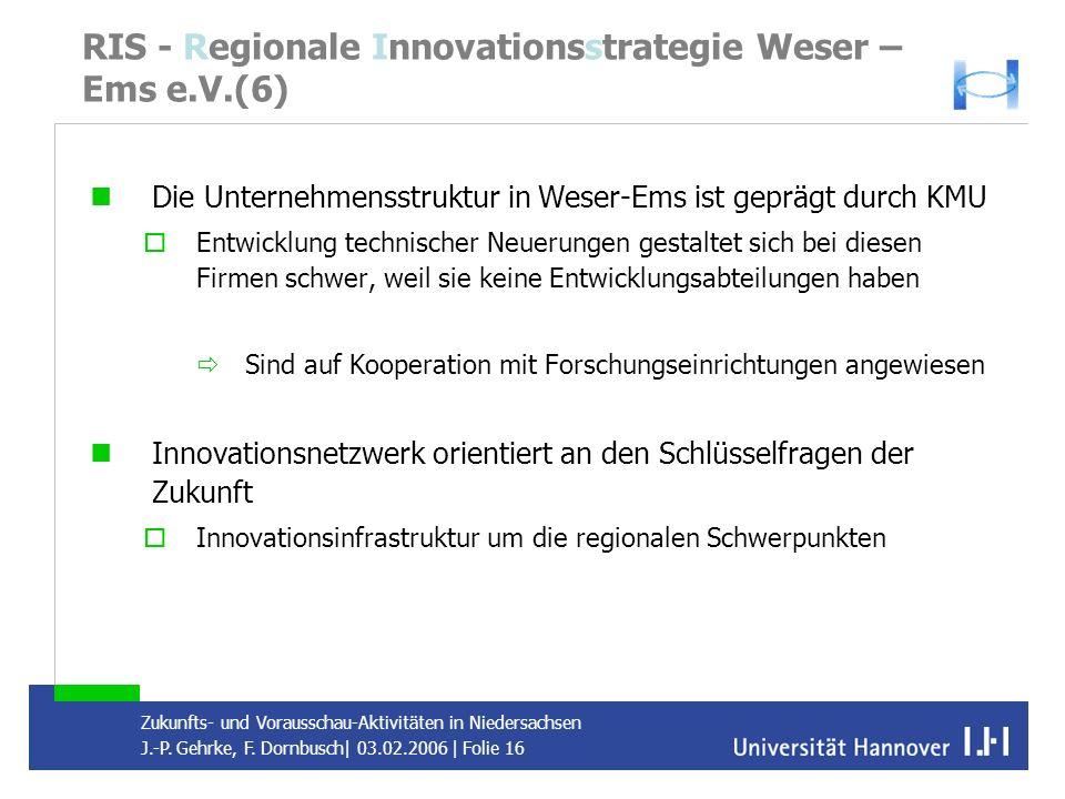 RIS - Regionale Innovationsstrategie Weser – Ems e.V.(6)