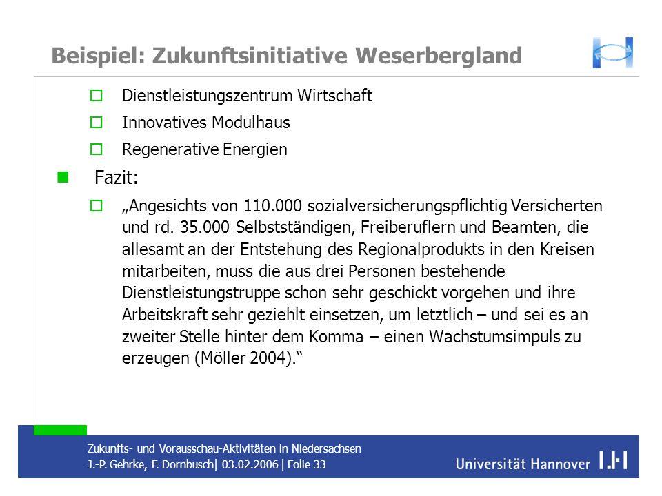 Beispiel: Zukunftsinitiative Weserbergland