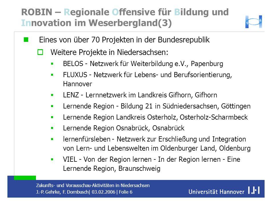 ROBIN – Regionale Offensive für Bildung und Innovation im Weserbergland(3)