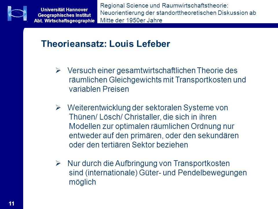Theorieansatz: Louis Lefeber