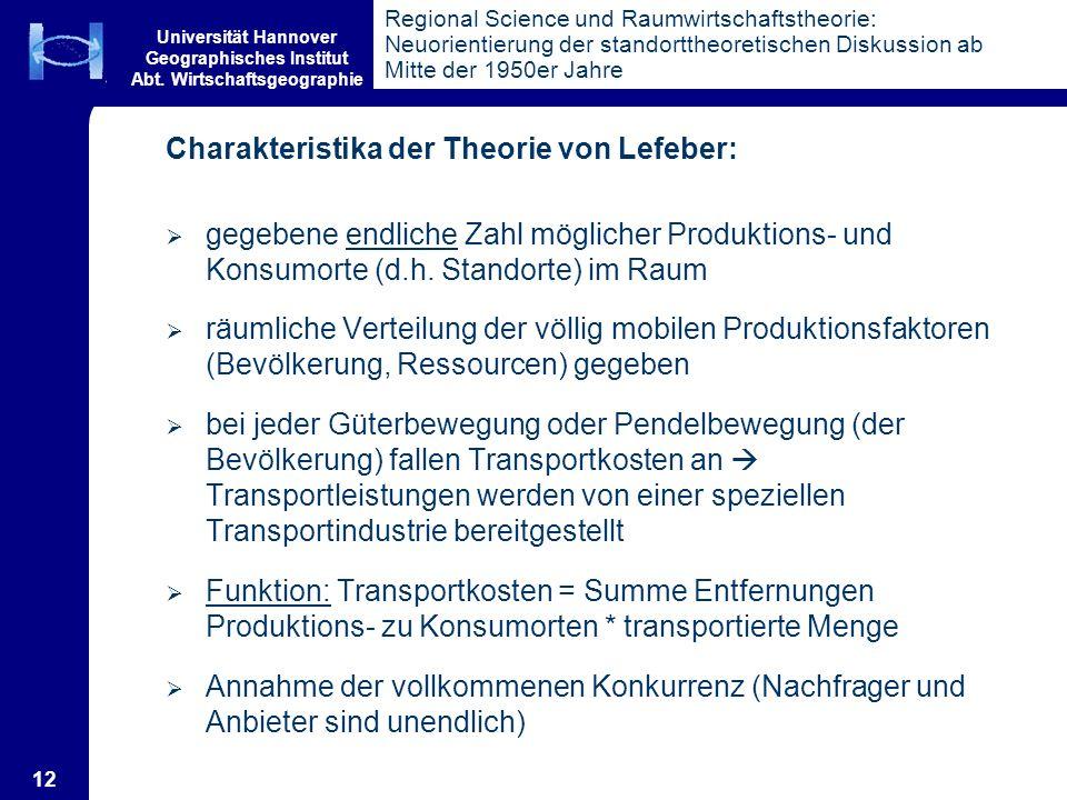 Charakteristika der Theorie von Lefeber: