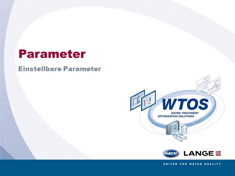Parameter Einstellbare Parameter