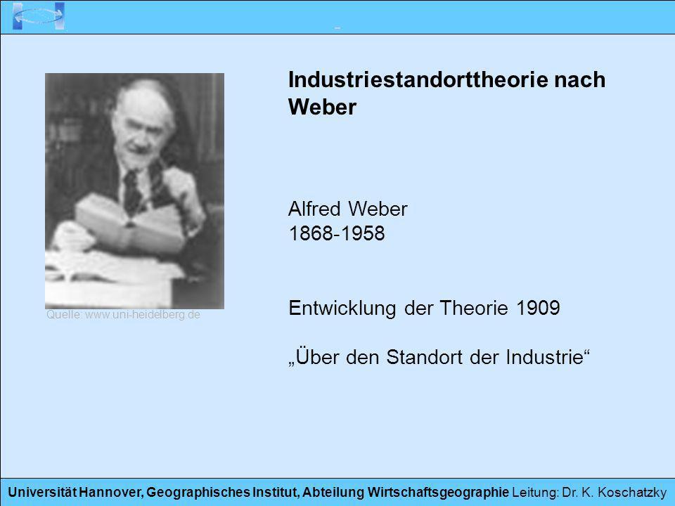 Industriestandorttheorie nach Weber