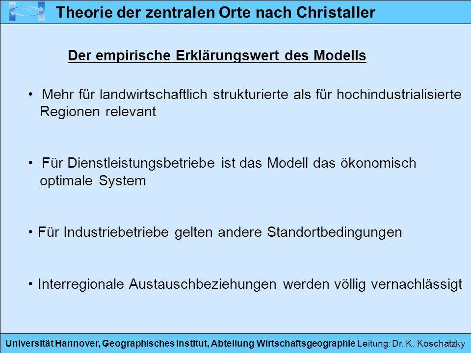 Der empirische Erklärungswert des Modells