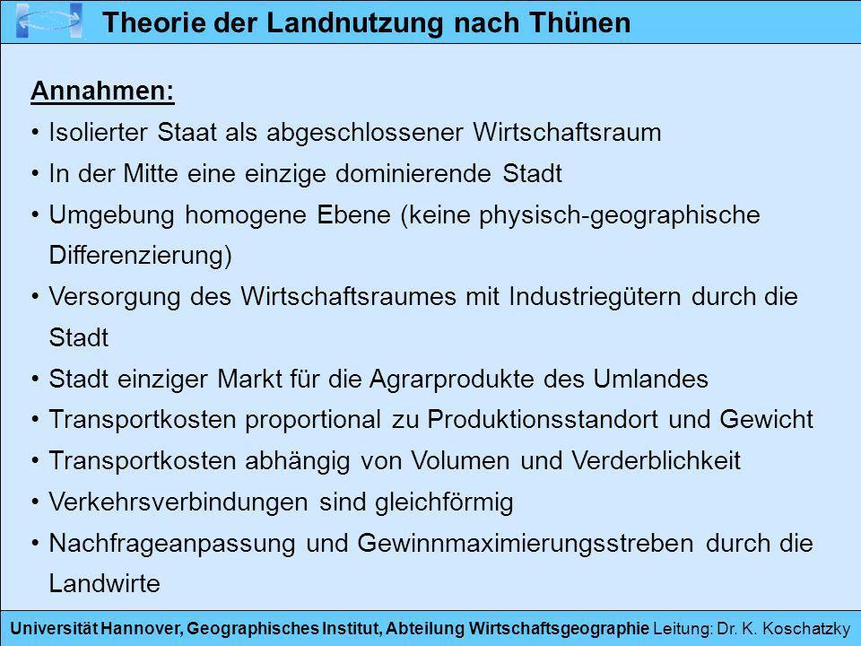 Theorie der Landnutzung nach Thünen