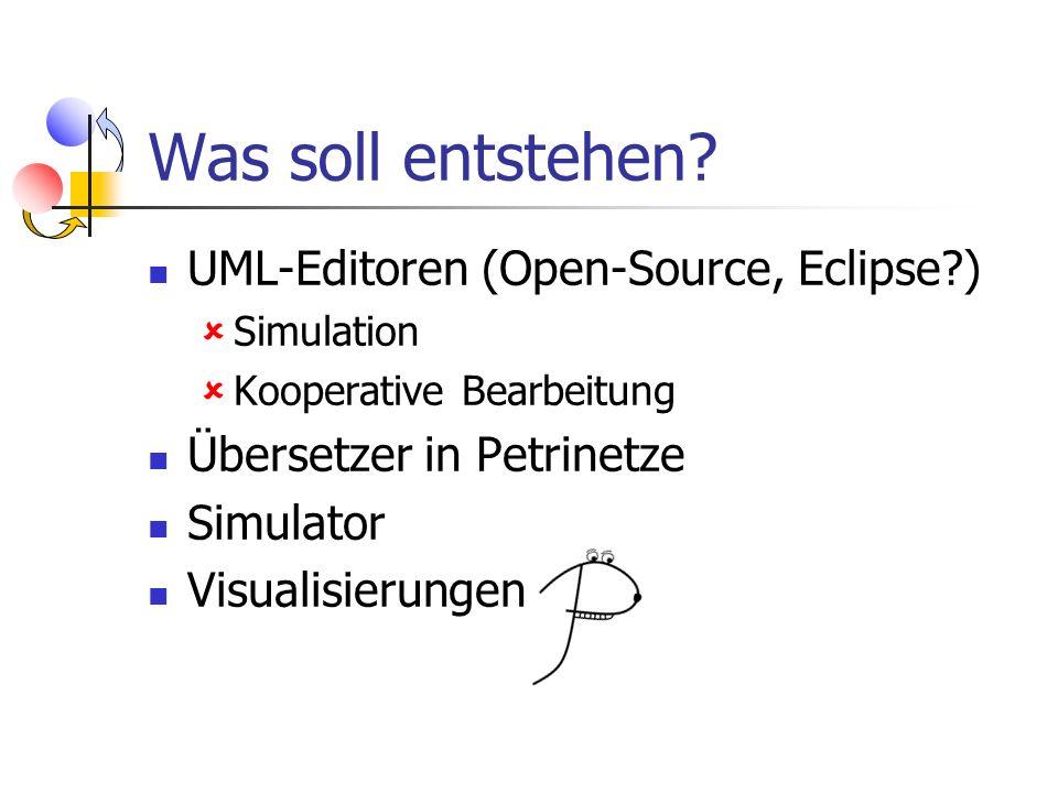 Was soll entstehen UML-Editoren (Open-Source, Eclipse )