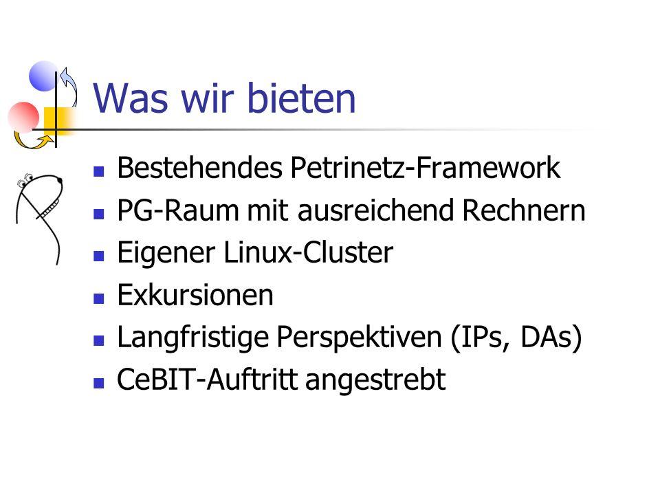 Was wir bieten Bestehendes Petrinetz-Framework