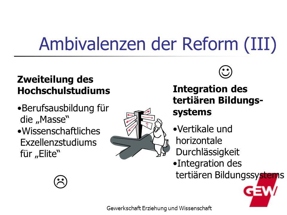 Ambivalenzen der Reform (III)
